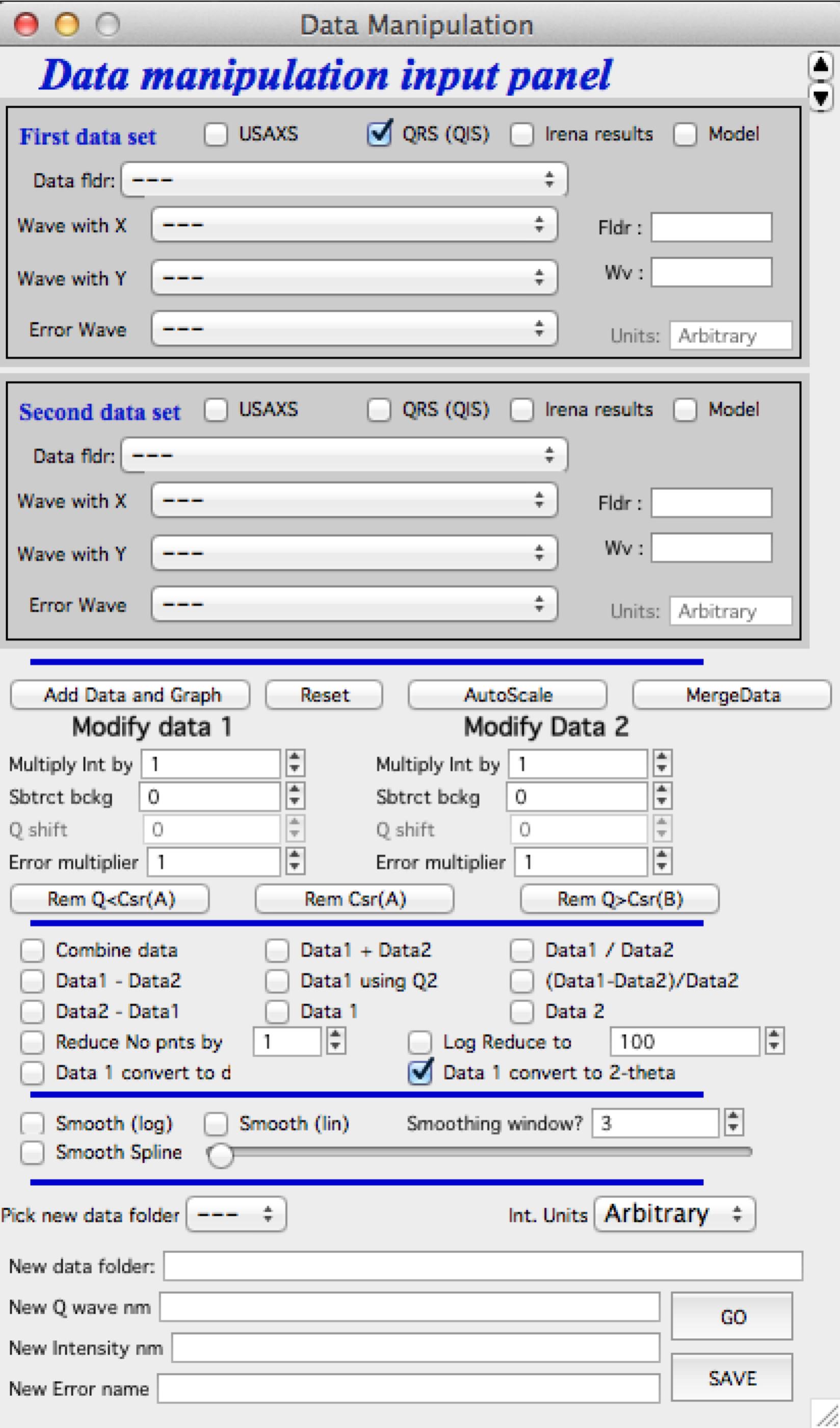Data manipulation tools — Irena and Nika manuals 1 4
