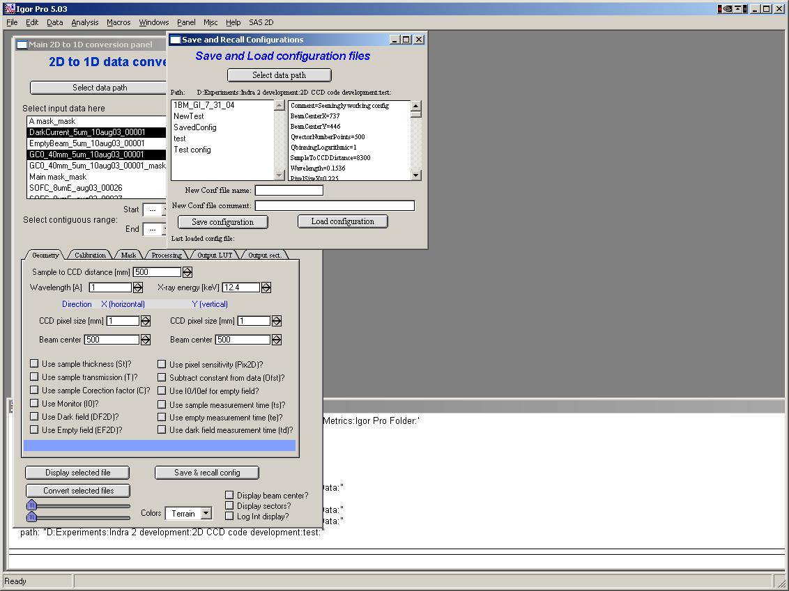 Main Panel — Irena and Nika manuals 1 4 documentation